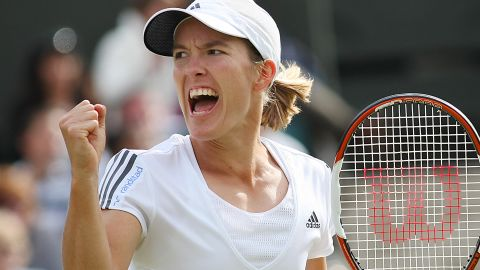 Stosur is one of three players who have played Williams at least twice at a grand slam to have a winning record against the world No. 1. The other two are Justine Henin, seen here, and Jennifer Capriati.