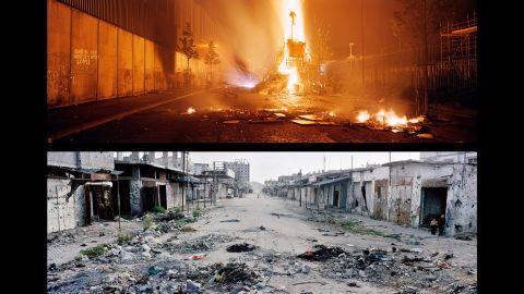 Top: Belfast, Cupar Way; Northern Ireland, 2007. Bottom: Gaza, Rafah; Occupied Palestinian Territories, 2005.