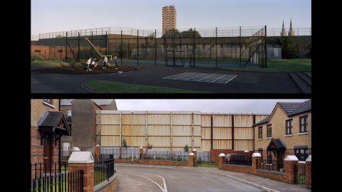 Top: Belfast, Beverly Street; Northern Ireland, 2006. Bottom: Belfast, Hillman Street; Northern Ireland, 2008.