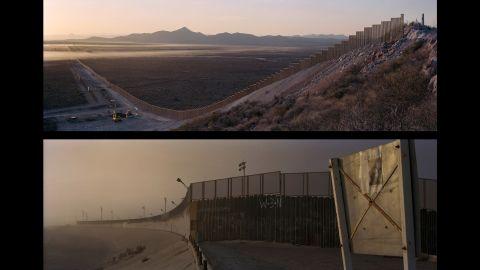 Top: Arizona, Naco; USA, 2008. Bottom: Tijuana, Tijuana River; Mexico, 2007.