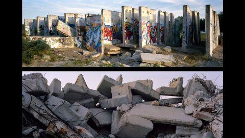 Top: Berlin, Teltow Canal; Germany, 2010. Bottom: Gaza Strip, Gaza Harbour; Occupied Palestinian Territories, 2010.