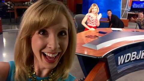 """Alison Parker often reported on the area chamber of commerce -- as she was doing the day she died -- with a knack for finding the human stories in business news. """"She cared about her stories and she took a genuine interest in what people said,"""" freelance colleague Becky Blanton said. """"She would look for personal details and ask the questions others didn't ask.""""<br />"""