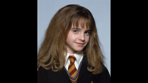 """A young Watson as frizzy-haired Hermione in """"Harry Potter."""""""