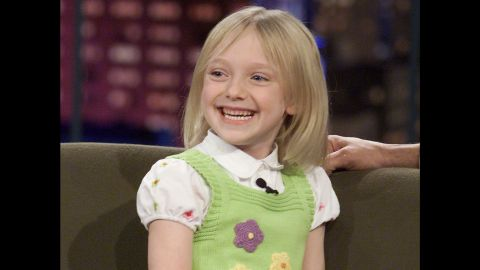 """Fanning was quite the tyke on """"The Tonight Show with Jay Leno"""" in 2002."""