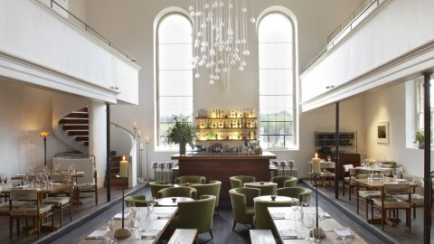 """<a href=""""http://www.atthechapel.co.uk/"""" target=""""_blank"""" target=""""_blank"""">At the Chapel</a>, in the idyllic town of Bruton in Somerset, is the brainchild of restauranteur Catherine Butler and designer/furniture-maker Ahmed Sidki. <br /><br />The restaurant, coffee shop, wine store and rooms are housed in a 17th-century Grade II Listed building (it is on the national register of buildings marked and celebrated as having special architectural or historic interest)."""