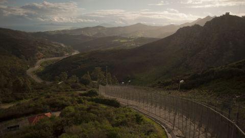 Spain's Ceuta border with Morocco.