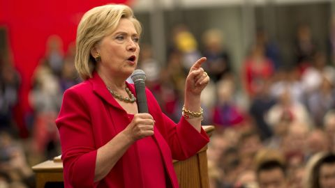 Democratic presidential candidate and former U.S. Secretary of State Hillary Clinton speaks to guests gathered for a campaign event on the campus of Case Western Reserve University on August 27, 2015 in Cleveland, Ohio.