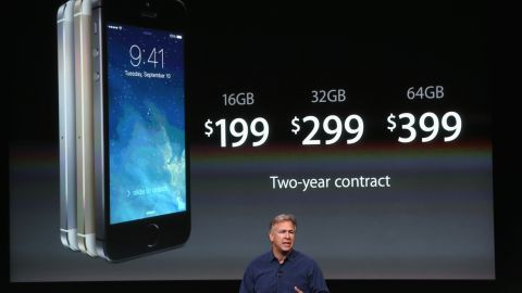 Schiller unveiled the <strong>iPhone 5S</strong> on September 10, 2013, at the Apple campus in Cupertino. For the first time Apple launched two new iPhone models, the 5S and the cheaper 5C, both running iOS 7. The 5S featured a fingerprint sensor, an upgraded camera and an A7 processing chip.