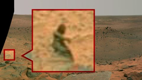 """The Mermaid: Before there was Curiosity, there was the Spirit rover, which captured this image of a """"mermaid"""" in 2008."""