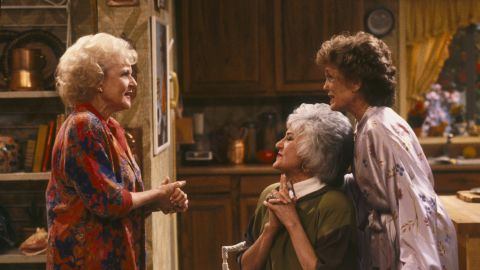 """White's next major starring role was as Rose Nylund on """"The Golden Girls."""" The show about Florida retirees, which ran from 1985 to 1992, also starred Bea Arthur, center, and Rue McClanahan."""