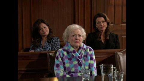 """White was part of the cast of """"Hot in Cleveland,"""" a sitcom about showbiz veterans settling in the Ohio city. Her co-stars included Valerie Bertinelli, left, and Jane Leeves."""