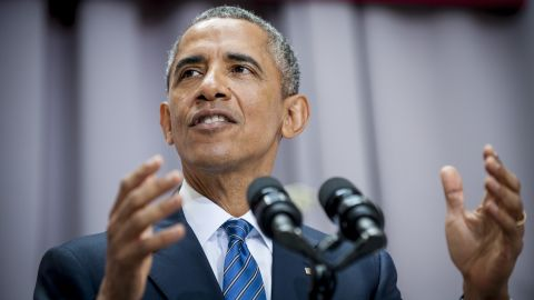 President Barack Obama addresses American University's School of International Service in Washington, District of Columbia, U.S., on Wednesday, Aug. 5, 2015. The speech focused on the Iran nuclear deal being debated in Congress.