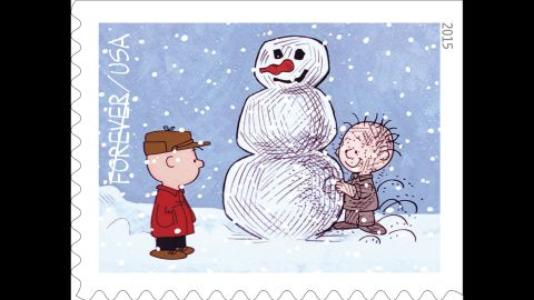 """Charlie Brown watches Pigpen, his perpetually dirty classmate, build a snowman. """"A Charlie Brown Christmas"""" first aired on CBS on December 9, 1965."""