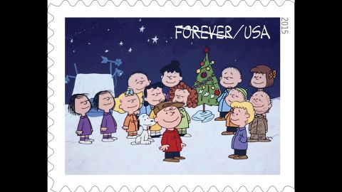 By the end of the special, the entire cast has gathered to sing carols around Charlie Brown's once-forlorn sapling, which they have transformed into a festive tree.