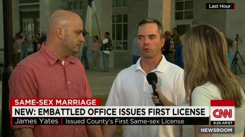 first same sex couple marriage license rowan county newsroom_00000521.jpg