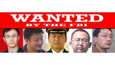 Chinese military officers Gu Chunhui, Huang Zhenyu, Sun Kailiang, Wang Dong, and Wen Xinyu were indicted on cyberespionage charges.