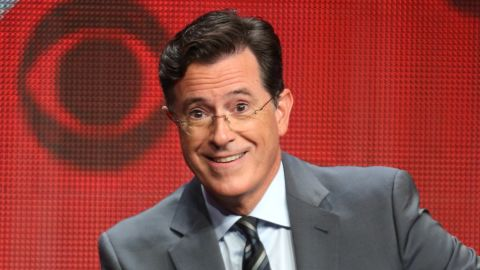 BEVERLY HILLS, CA - AUGUST 10:  Host, executive producer, writer Stephen Colbert speaks onstage during the 'The Late Show with Stephen Colbert' panel discussion at the CBS portion of the 2015 Summer TCA Tour at The Beverly Hilton Hotel on August 10, 2015 in Beverly Hills, California.  (Photo by Frederick M. Brown/Getty Images)
