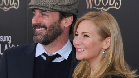 """""""Mad Men"""" actor Jon Hamm and filmmaker Jennifer Westfeldt split in 2015, according to a <a href=""""http://www.people.com/article/jon-hamm-jennifer-westfeldt-break-up"""" target=""""_blank"""" target=""""_blank"""">statement</a> the former couple provided to People magazine. """"With great sadness, we have decided to separate, after 18 years of love and shared history,"""" the pair said. """"We will continue to be supportive of each other in every way possible moving forward."""" The couple was not married."""