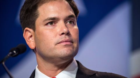 Senator Marco Rubio (R-FL), speaks at the 2013 Values Voter Summit, held by the Family Research Council, on October 11, 2013 in Washington, DC. The summit, which goes for three days, is attended by a number of Republican senators and high profile conservative voices in American politics.