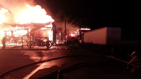 """The Full Throttle Saloon, a tavern that billed itself as """"The World's Biggest Biker Bar"""" was destroyed by fire early Tuesday morning, September 8 in Sturgis, South Dakota."""