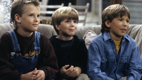 Thomas (at right with Zachery Ty Bryan, left, and Taran Noah Smith) first snagged hearts as one of the sons on Allen's hit '90s show.
