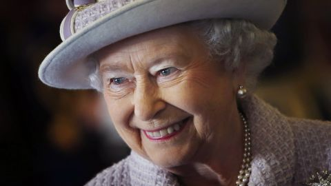 LOSSIEMOUTH, SCOTLAND - NOVEMBER 20:  Queen Elizabeth II is seen during a visit to RAF Lossiemouth on her 67th wedding anniversary on November 20, 2014 in Lossiemouth, Scotland. It was the Queen's first visit to the base since 2003.  (Photo by Danny Lawson - WPA Pool/Getty Images)