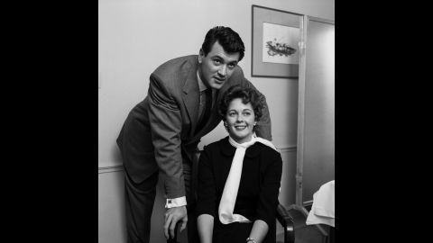 """The actor married his agent's secretary, Phyllis Gates, in 1955. Gates had moved in with the star a year earlier. """"For Rock, living with Phyllis helped to normalize his reputation in Hollywood. People would say behind his back, with a wink, 'Did you hear -- Rock Hudson's got a lady living with him,'"""" according to """"Rock Hudson: His Story,"""" an authorized biography by Sara Davidson published after his death. The marriage lasted less than three years."""