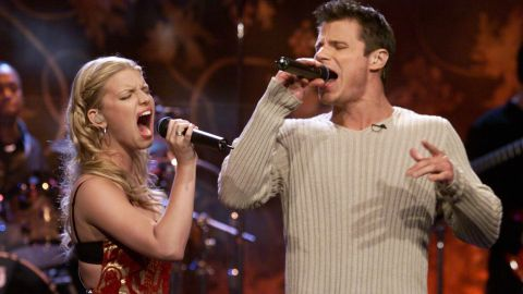 """Once upon a time in 1999, a young blonde pop star named Jessica Simpson met another young blond-ish pop star, Nick Lachey, at a Teen People party, and they immediately fell in love. Lachey even wrote a song about their passion -- that would be """"My Everything"""" -- and then he and his new bride signed up to film their love for an MTV reality show called """"Newlyweds."""" But instead of finding """"happily ever after,"""" Lachey and Simpson found grounds for divorce in 2005 after three years of marriage. They both are now parents and married to others."""
