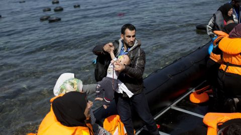 Many of the migrants have cell phones, loaded with the phone numbers of Greek  rescue authorities so they can come to their aid. Facebook pages also give migrants advice on what to do when they arrive.