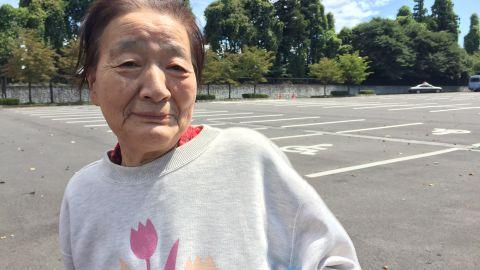 Hideko Yamamoto, 77, was evacuated via helicopter with her son.