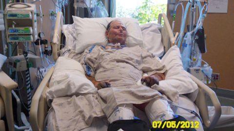 Paul Gaylord at the hospital.