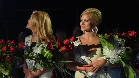 ATLANTIC CITY, NJ - SEPTEMBER 13:  Miss Alabama, Meg McGuffin, Miss Louisiana, April Nelson, Miss America 2016, Betty Cantrell, Miss Mississippi, Hannah Roberts, Miss Colorado, Kelley Johnson attend The 2016 Official Miss America After-Party at  on September 13, 2015 in Atlantic City, New Jersey.  (Photo by Michael Loccisano/Getty Images for dcp)