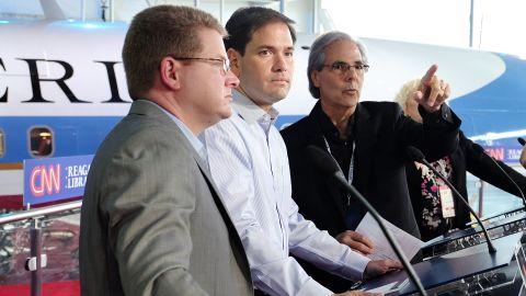 Rubio attends pre-debate preparations.