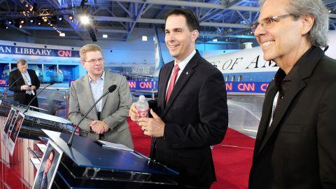 Walker before the debate.