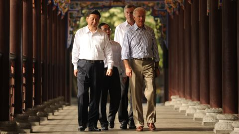 U.S. Vice President Joe Biden visits then Chinese Vice President Xi Jinping in Chengdu, Sichuan, in August, 2011. The five-day visit to China was part of a reciprocal agreement for the vice presidents to meet. A primary goal for Biden was to get to know the next generation of Chinese leadership.