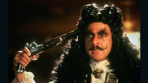 """Hollywood loves pirates. Dustin Hoffman delighted audiences as the titular character in """"Hook,"""" the 1991 film suggesting Peter Pan should have stuck to his plan to never grow up. When Captain Hook kidnaps his children, an adult Peter Pan played by Robin Williams must return to Neverland and reclaim his youthful spirit to challenge his old enemy."""