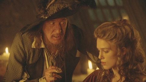 """Actor Geoffrey Rush plays Sparrow's rival Captain Hector Barbossa in """"Pirates of the Caribbean."""" Once a ferocious pirate and deadly enemy of Sparrow, Barbossa enters an uneasy alliance with his rival."""
