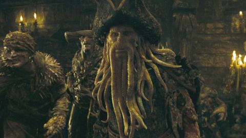 """""""Davy Jones' Locker"""" is a nautical idiom for the bottom of the sea often used in the context of sailors and ships lost at sea. The origins of the name Davy Jones are unclear but for the <a href=""""http://pirates.wikia.com/wiki/Davy_Jones"""" target=""""_blank"""" target=""""_blank"""">""""Pirates of Caribbean"""" franchise</a>, Jones became the supernatural ruler of the Seven Seas as the condemned captain of the Flying Dutchman."""