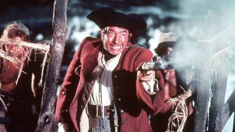 """Long John Silver also appears in """"Black Sails,"""" but the peg-legged pirate made his debut in the Robert Louis Stevenson novel """"Treasure Island."""" Typically seen with a parrot on his shoulder, Long John Silver is another recurring character in pop culture, including the 1950 film """"Treasure Island,"""" played by actor Robert Newton."""