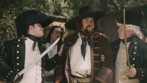 """Jason Momoa, who will soon be playing Aquaman, appeared as pirate Jean Lafitte, who helped Andrew Jackson liberate New Orleans from the British, in a recent episode of Comedy Central's """"Drunk History."""""""