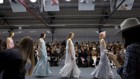 This season, Eudon Choi was inspired by John Anster  Fitzgerald's dreamy fairy paintings.