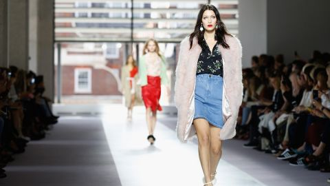 You can always count on Topshop to bring out the stars. This time around, buzzy models like Bella Hadid -- sister of Gigi, seen here -- Malaika Firth, and Binx Walton walked, while Anna Wintour, Ciara, Alexa Chung, Jourdan Dunn and Suki Waterhouse populated the FROW.