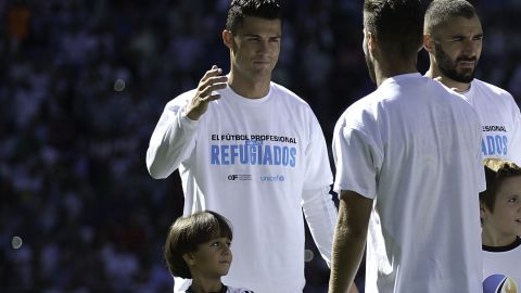 Zaid Mohsen was chosen as a mascot for soccer team Real Madrid.