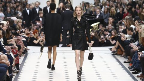 Critics were impressed by the wearability of Burberry's collection, which included, to our delight, backpacks.