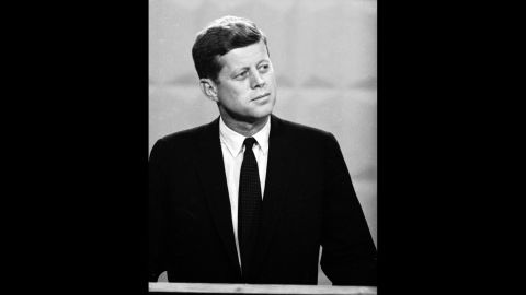 Kennedy, 43, was a Democratic senator from Massachusetts. He would become the youngest president elected to office.
