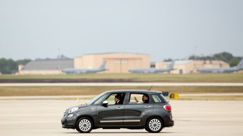 Pope Francis departs from Andrews Air Force Base in Maryland shortly after his flight landed on Tuesday, September 22.