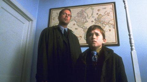 """Director/writer M. Night Shyamalan is fond of twists and probably put them to best use in his first major film, 1999's """"The Sixth Sense."""" Psychologist Malcolm Crowe (Bruce Willis) hears Cole Sear (Haley Joel Osment) say he can see dead people. Shyamalan's film balances psychological horror with a moving story."""