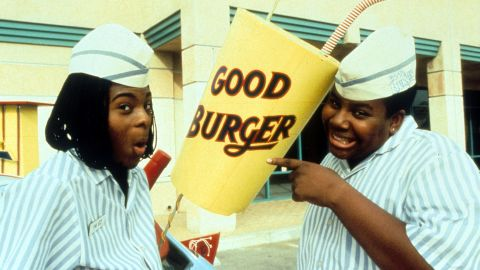 """""""Good Burger"""" stars Kel Mitchell, left, and Kenan Thompson reunited for an appearance on """"The Tonight Show"""" on September 23, performing in a sketch based on the 1997 film."""