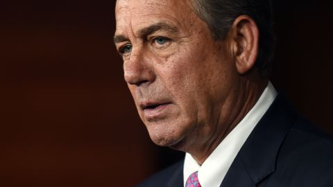 WASHINGTON, DC - JULY 29: House Speaker John Boehner holds his weekly news conference on Capitol Hill on July 29, 2015 in Washington, DC. During the press conference the Speaker listed the accomplishments of the Republican party that saved US tax payers trillions of dollars, but admitted much more needs to be done. (Photo by Astrid Riecken/Getty Images)