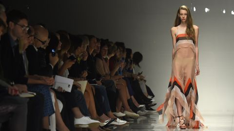 Tasteful transparency was the trend of the day at Blumarine.